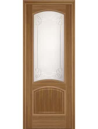 Полотно дверное Криста остекленное 700Х2000 орех