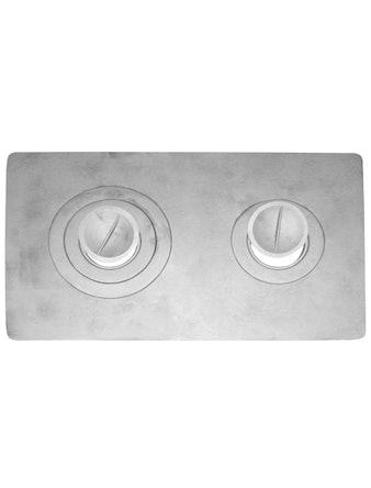 Плита 2-конфорточная П2-3, чугунная, 410 х 710 мм
