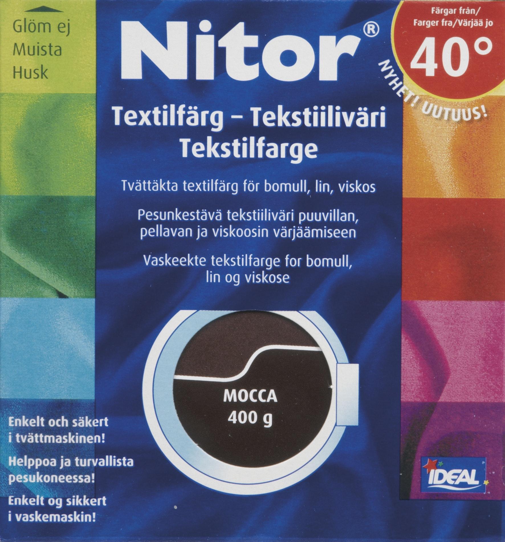 Textilfärg Nitor Flytande Inklusive Fixeringsmedel Mocca