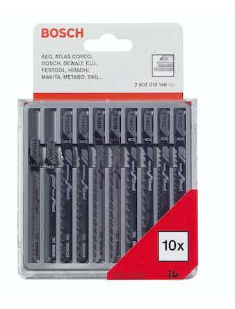 Sticksågsset Bosch För Trä Och Plast 10-Pack