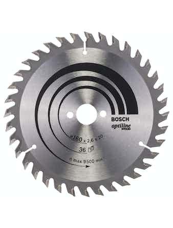 Cirkelsågklinga Bosch Optiline 160X2,6X16 T36