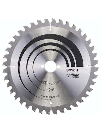 Cirkelsågsklinga Bosch Optiline T40 250X30mm