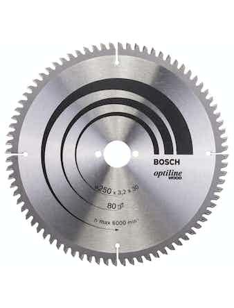 Cirkelsågsklinga Bosch Optiline T80 250X30mm