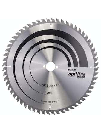 Cirkelsågsklinga Bosch Optiline T60 315X30mm