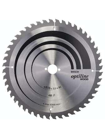 Cirkelsågsklinga Bosch Optiline T48 315X30mm