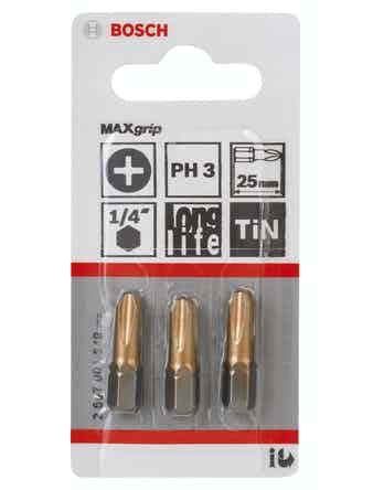 Bitsset Bosch 3-pack 25mm Maxgrip PH3