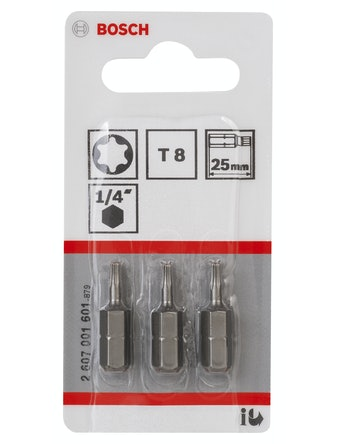 Bitsset Bosch 3-pack 25mm T8
