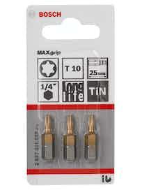 Bitssats Bosch Torx10 Maxgrip 25mm 3-Pack