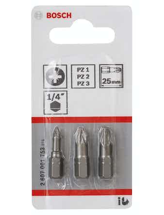 Bitsset Bosch PZ 25mm 3-Pack