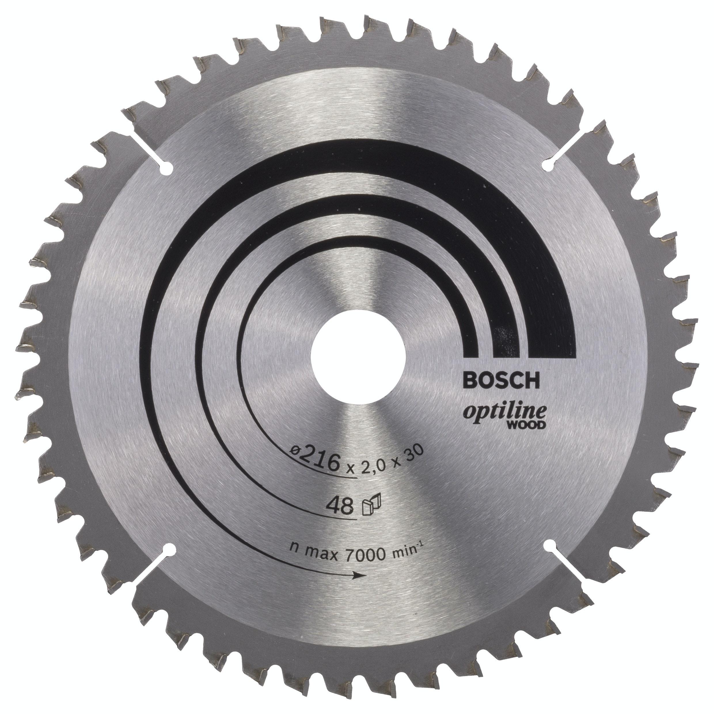 Cirkelsågklinga Bosch 216X2X30mm 48T Trä