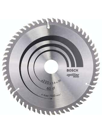 Cirkelsågsklinga Bosch Optiline T60 210X2,8X30mm