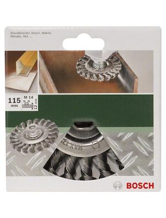 Щётка дисковая BOSCH витая М14 0,5х115 мм