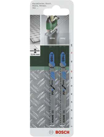 Пилки BOSCH для лобзика 2 шт T118 B HSS