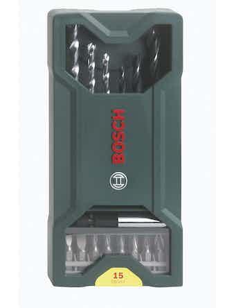 Borr Och Bitsset Bosch X-Line 15-Pack