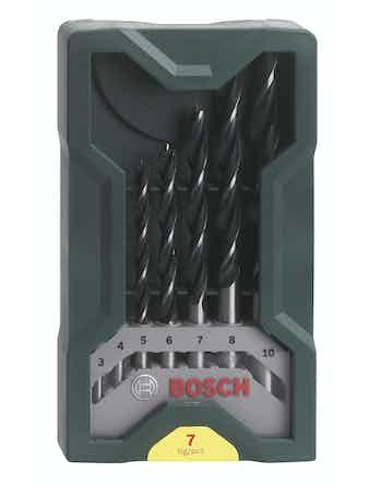 Träborrset Bosch Xline 3-10mm 7-Pack