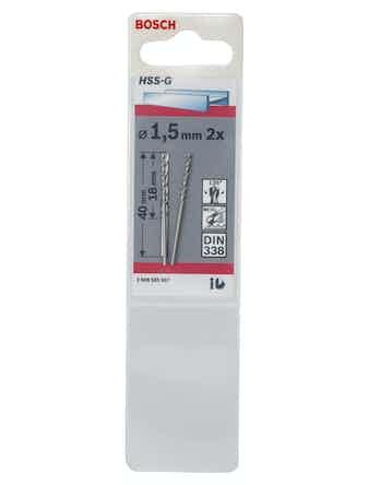 Metallborr Bosch HSS-G 1,5X40mm 2-Pack