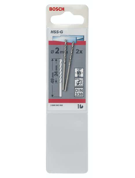 METALLIPORANTERÄ BOSCH 2,0X49MM HSS-G 2KPL