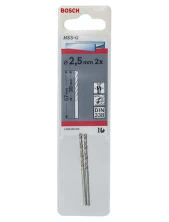 Metallborr Bosch HSS-G 2,5X57mm 2-Pack