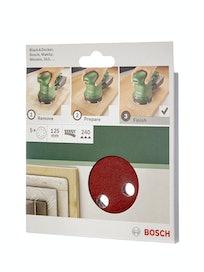 Шлифлист Bosch, 125 мм, К240Д, 5 шт.