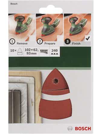 Шлифлист BOSCH 10 шт. 240 КР мультишлиф.