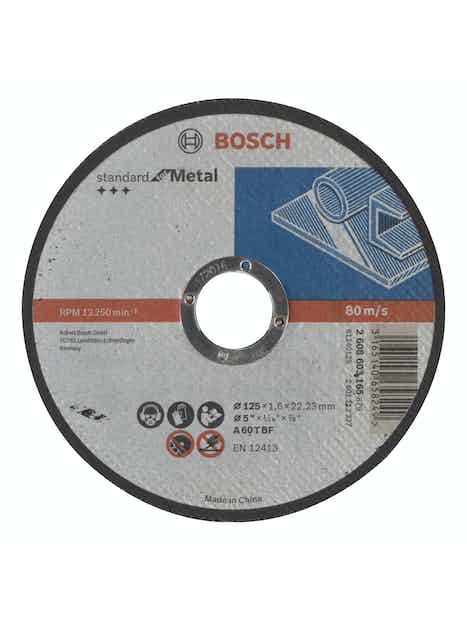 KATKAISULAIKKA BOSCH METALLI 125X1,6MM STANDARD