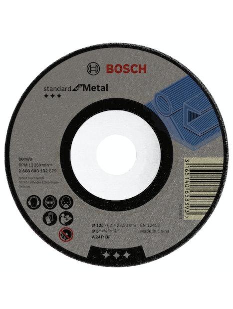NAPALAIKKA BOSCH METALLI 125X6MM STANDARD TAIVUTETTU