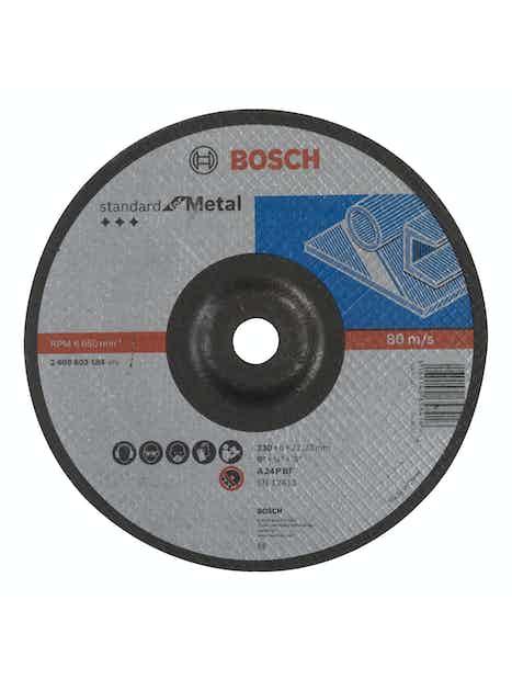 NAPALAIKKA BOSCH METALLI 230X6MM STANDARD TAIVUTETTU