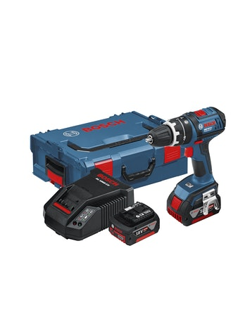 Slagborrmaskin Bosch Blå GSB 18V-LI DY 2X4,0AH 2 Batterier