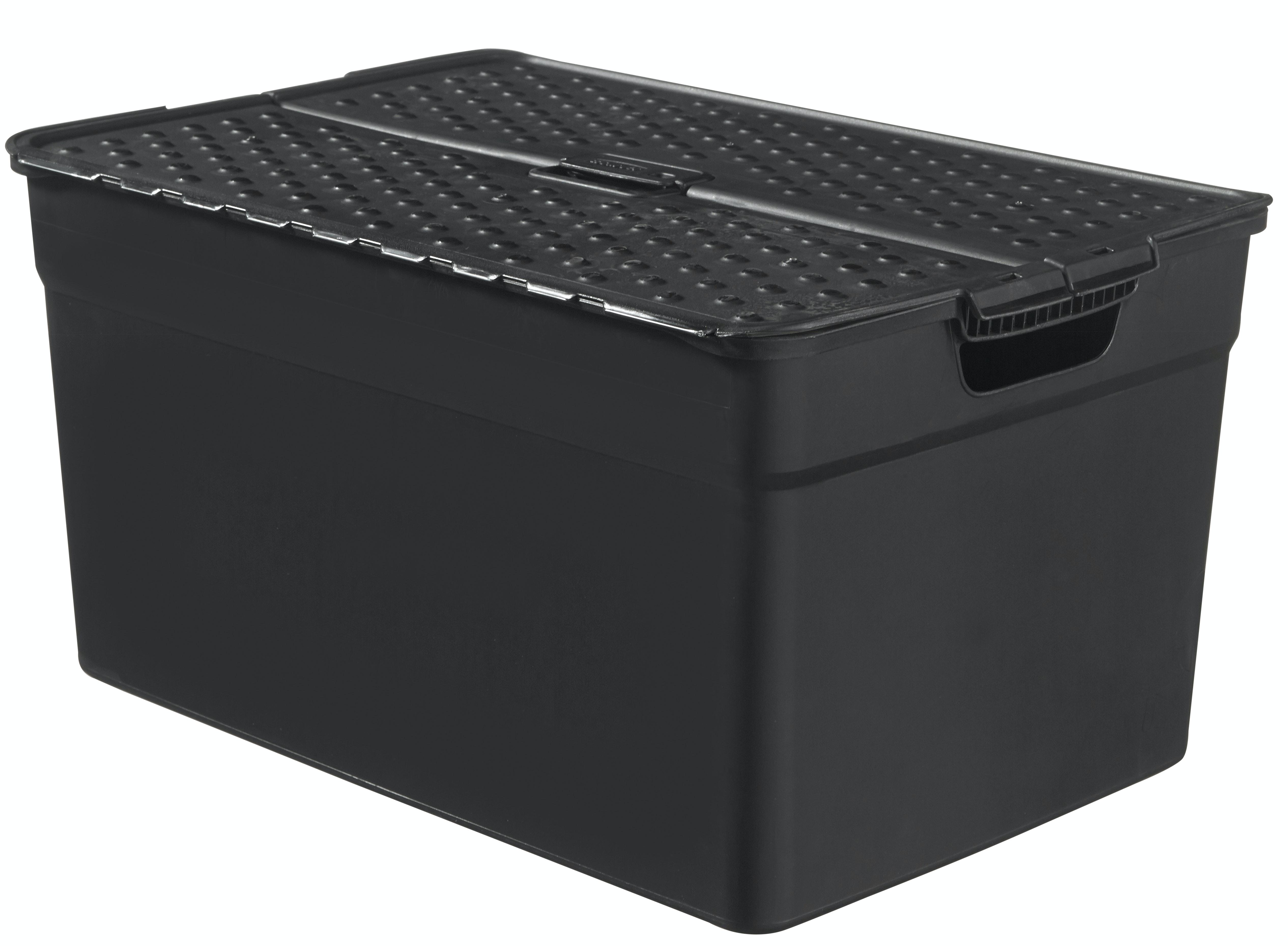 Förvaringsbox Curver Med Lock 30L Svart