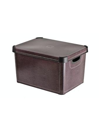 Ящик для хранения СТОКГОЛЬМ LEATHER 22 л