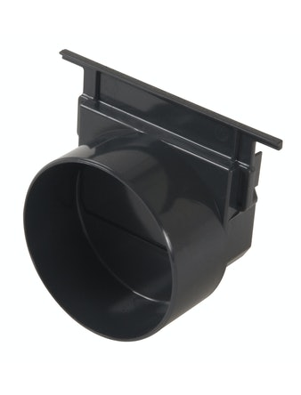 Utlopp/Ändstycke Gop Horisontell Svart 110mm