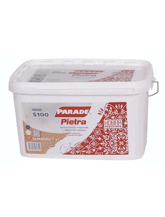 Декоративное покрытие с эффектом камня Parade S100 Pietra кварц, 7 кг
