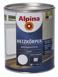 Эмаль для радиаторов Alpina Heizkorper, глянцевая, 0,75 л