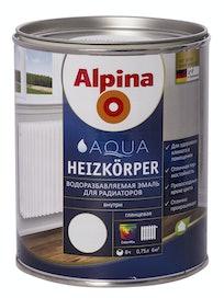 Эмаль водоразбавляемая для радиаторов Alpina Aqua Heizkorper, глянцевая, 0,75 л