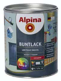Эмаль цветная Alpina Buntlack, глянцевая, база 3, 0,75 л