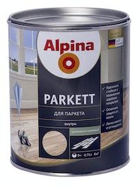 Лак для паркета Alpina Parkett, шелковисто-матовый, 0,75 л