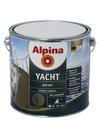 Лак для яхт Alpina Yacht, глянцевый, 2,5 л