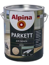 Лак для паркета Alpina Parkett, шелковисто-матовый, 5 л
