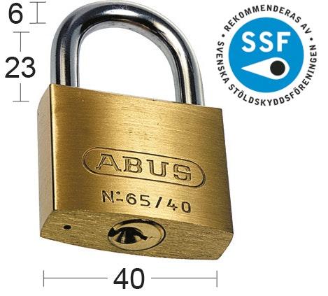 Hänglås Abus 65Ib-40Rf Twin