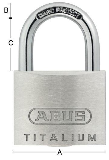 Hänglås Abus 64TI-30 Silver