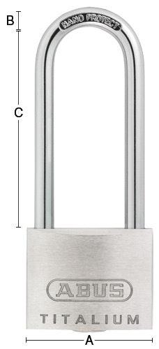 Hänglås Abus 64TI-40HB63 Silver