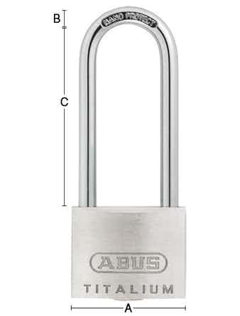 Hänglås Habo Abus 64TI-40HB63 Silver