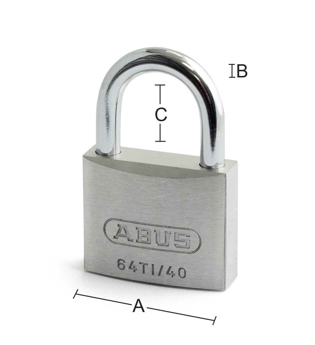 Hänglås Abus 64TI-50HB80 SB