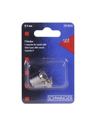 F-разъем закрутка 4мм, Schwaiger FST 8314
