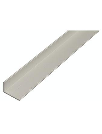 Профиль угловой алюминиевый, 1000 х 20 х 10 х 2 мм