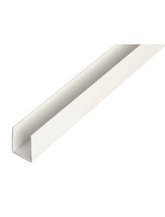 Профиль U-образный, белый, 2000 х 10 х 10 мм