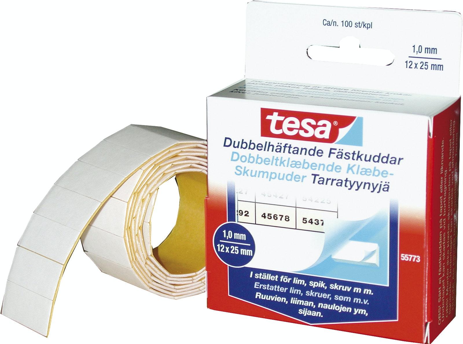 Fästkuddar Tesa Dubbelhäftande 100-Pack 1x12x25mm