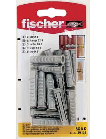 Nylonplugg Fischer SX8 K 20-Pack 90015