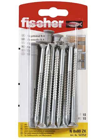 Spikplugg Fischer N 8K 10-Pack 90020