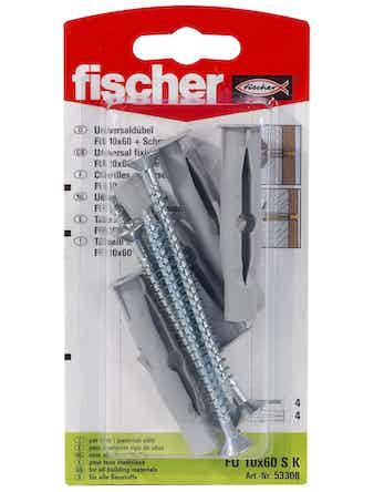 Plugg Fischer Fu 10X60mm Sk 90029 4-Pack